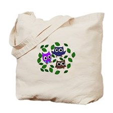 Three Happy Owls Tote Bag