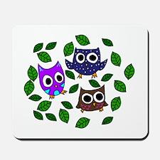 Three Happy Owls Mousepad