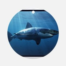 Great White Shark Ornament (Round)