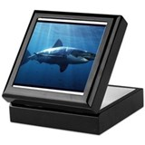 Great white shark Keepsake Boxes