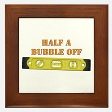 Half A Bubble Off Framed Tile