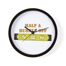 Half A Bubble Off Wall Clock