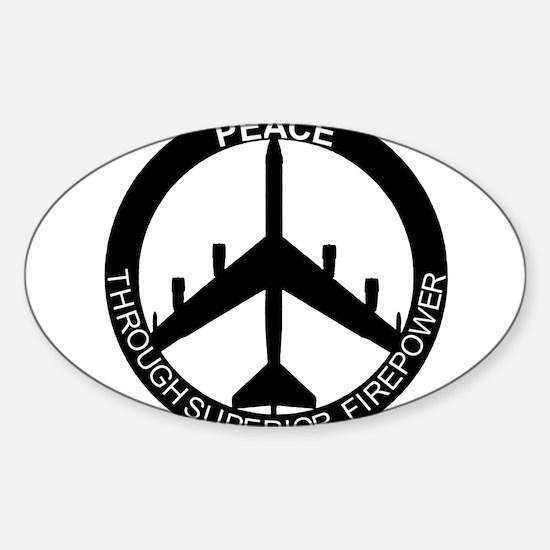 Superior Firepower blk Sticker (Oval)