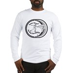 Long Sleeve T-Shirt With Image On Front & Back