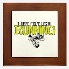 Felt Like Running Framed Tile