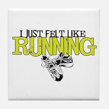 Felt Like Running Tile Coaster