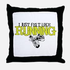 Felt Like Running Throw Pillow