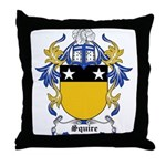 Squire Coat of Arms Throw Pillow
