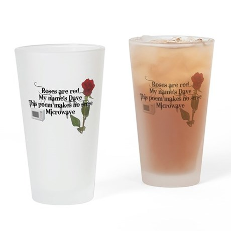 Nonsensical Poem Black Text Drinking Glass