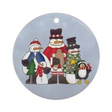 Snow Pals & Penguin Ornament (Round)