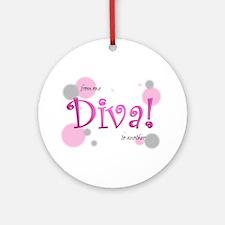 """Diva """"bubbles"""" Ornament (Round)"""