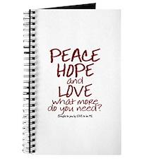 PEACE - HOPE - LOVE Journal