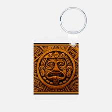 Aztec Calendar Dec 21 2012 Aluminum Photo Keychain