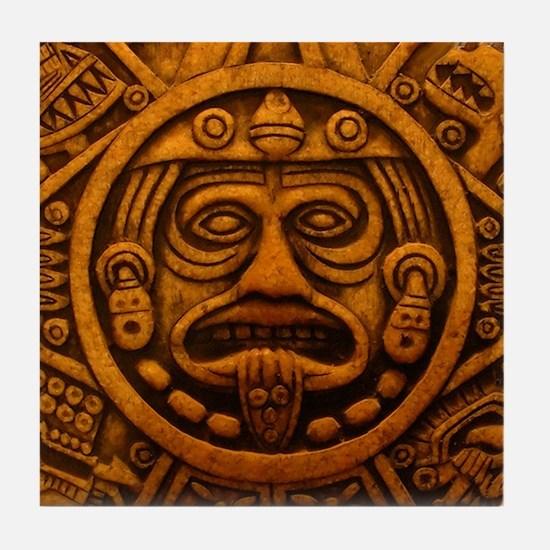Aztec Calendar Dec 21 2012 Tile Coaster