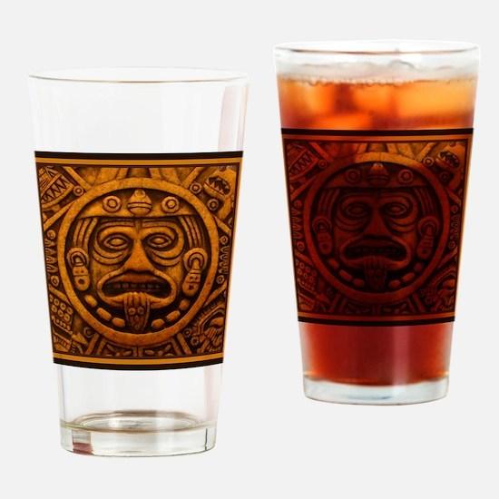 Aztec Calendar Dec 21 2012 Drinking Glass