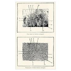 Fingerprint evidence, 1905 murder case Poster