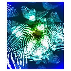 Fingerprints, computer artwork Poster