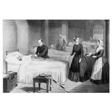 Florence Nightingale in a military hospital Canvas Art