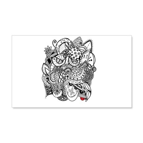 Two In A Bush 20x12 Wall Decal
