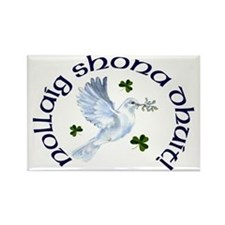 Gaelic Greeting Christmas Dove Magnets (10 pack)