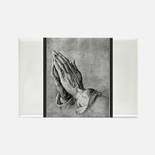 Praying Hands Rectangle Magnet