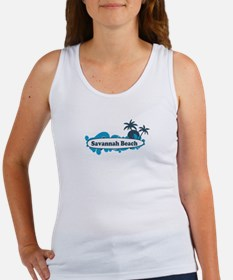 Savannah Beach GA - Surf Design. Women's Tank Top