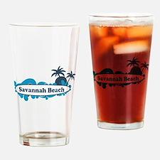 Savannah Beach GA - Surf Design. Drinking Glass