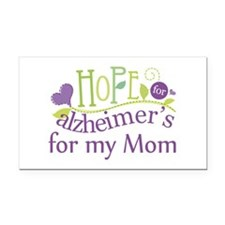 Hope For Alzheimers For My Mom Rectangle Car Magne