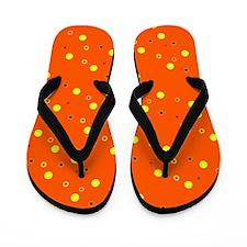 Orange Colorful Dots 47 Designer Flip Flops