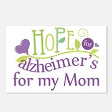 Hope For Alzheimers For My Mom Postcards (Package