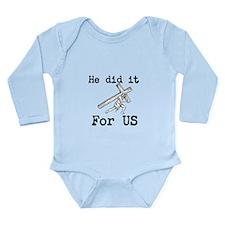 For Us Long Sleeve Infant Bodysuit