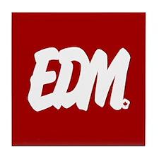 EDM Brushed Tile Coaster