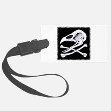 Rooster Skull and Crossbones Luggage Tag