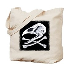 Rooster Skull and Crossbones Tote Bag