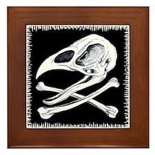 Rooster Skull and Crossbones Framed Tile