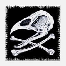 Rooster Skull And Crossbones Tile Coaster