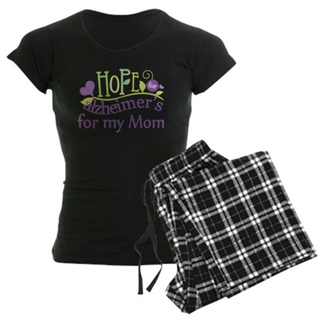 Hope For Alzheimers For My Mom Women's Dark Pajama