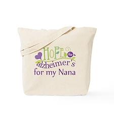 Alzheimers Hope For Nana Tote Bag