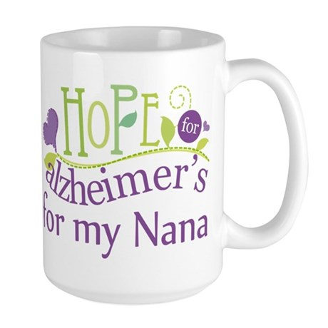 Alzheimers Hope For Nana Large Mug