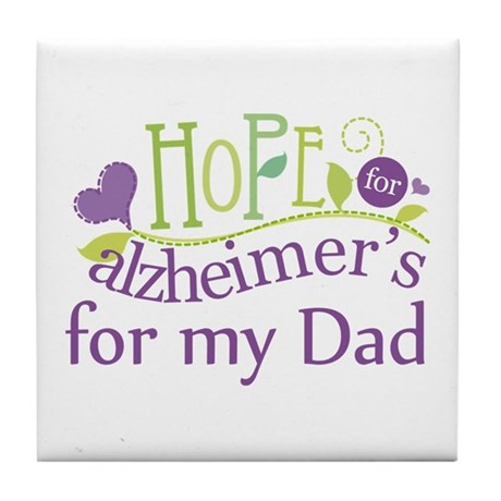 Alzheimers Hope For Nana Tile Coaster