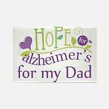 Alzheimers Hope For Nana Rectangle Magnet