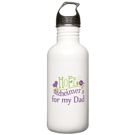 Alzheimers Hope For Nana Stainless Water Bottle 1.