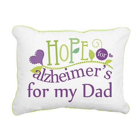 Alzheimers Hope For Nana Rectangular Canvas Pillow