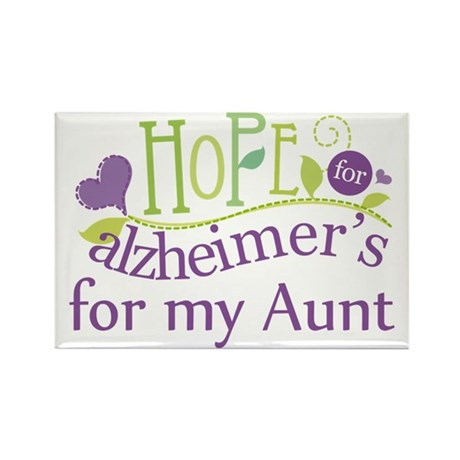 Hope For Alzheimers For My Aunt Rectangle Magnet