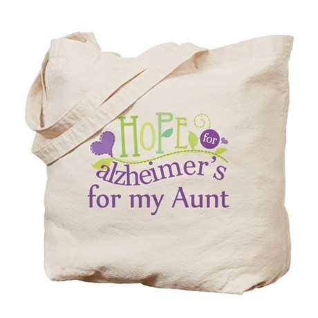 Hope For Alzheimers For My Aunt Tote Bag