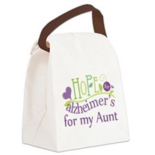 Hope For Alzheimers For My Aunt Canvas Lunch Bag