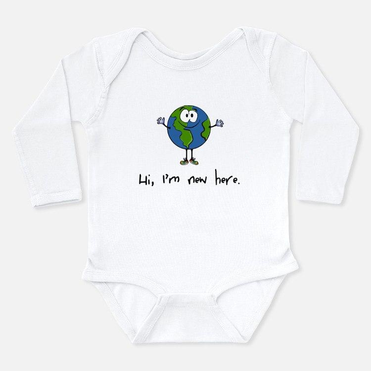 Hi, I'm new here Long Sleeve Infant Bodysuit