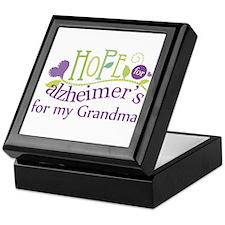 Hope For Alzheimers Grandma Keepsake Box