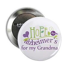 "Hope For Alzheimers Grandma 2.25"" Button"