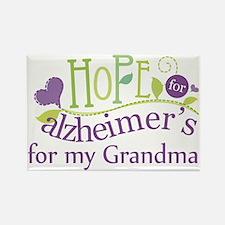 Hope For Alzheimers Grandma Rectangle Magnet